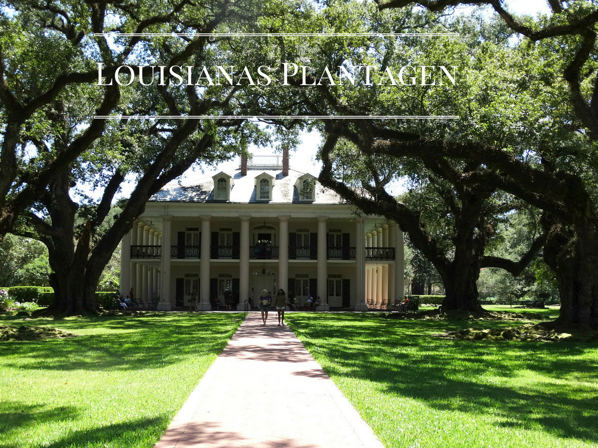 New Orleans  - Ausflug zur Laura & Oak Alley Plantation
