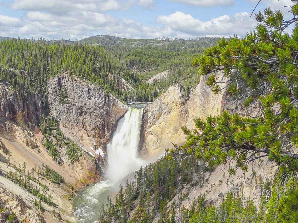 Wasserfall-Grand Canyon-of-Yellowstone