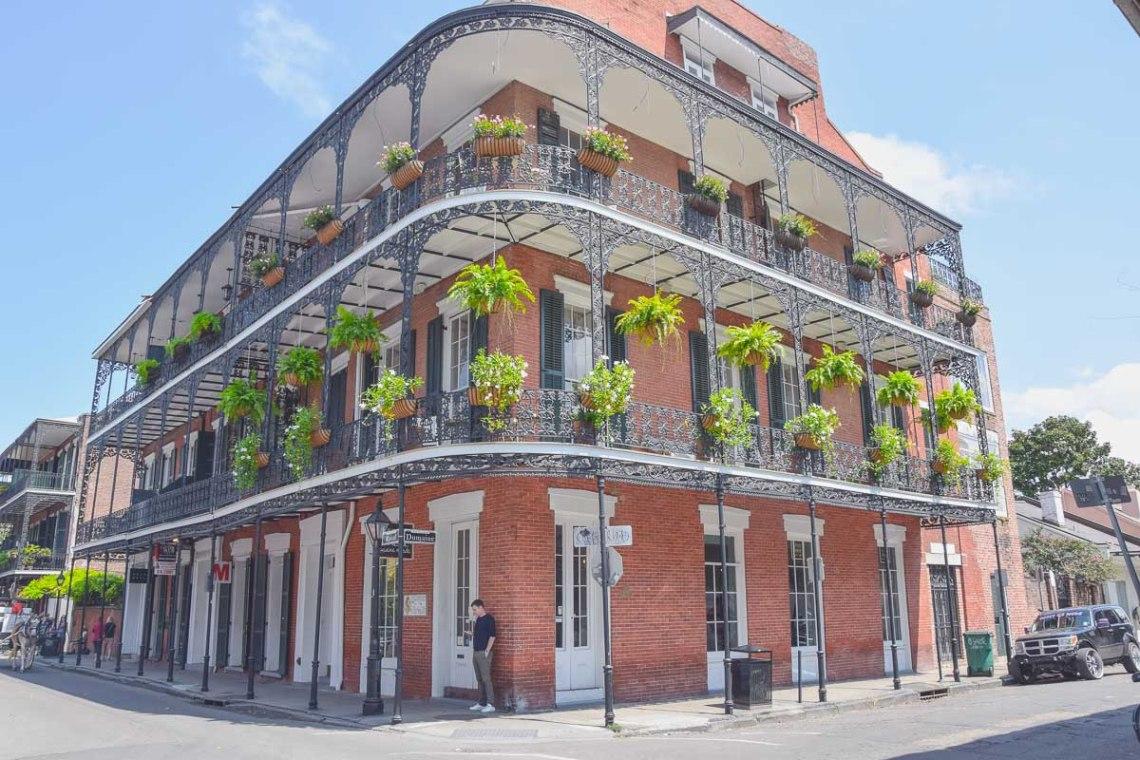 New Orleans French Quarter Haus Kolonialstil