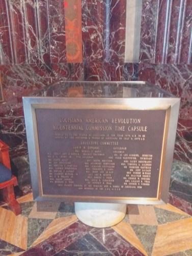 Time Capsule Louisiana State Capitol