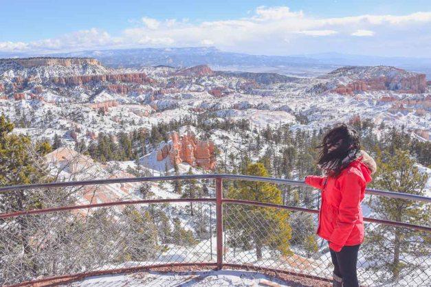 Bryce Canyon Sunrise Point herrlicher Ausblick mit schnee