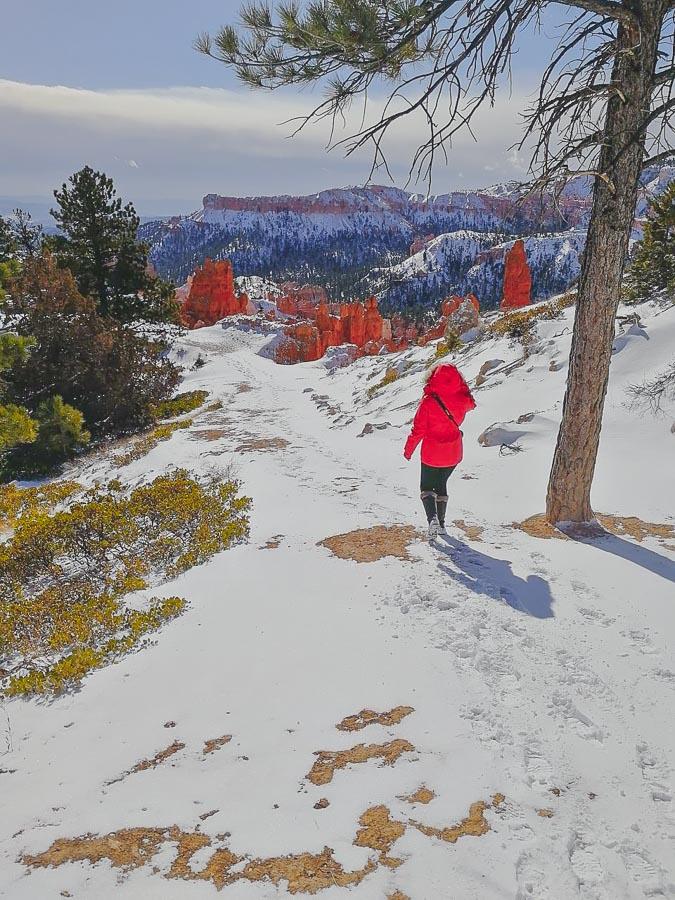 bryce canyon wandern winter