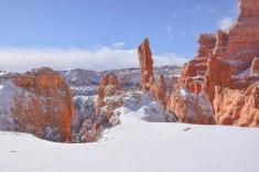 winterlandschaft im bryce canyon