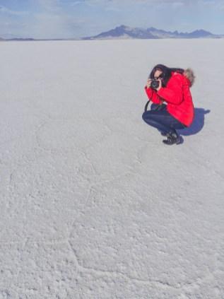 Fotografieren in den Bonneville Salt Flats bei Utah