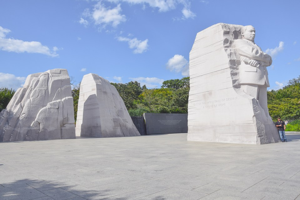 Martin Luther King Memorial Denkmalanlage am Tidal Basin