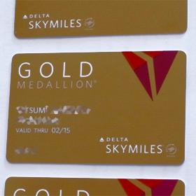 Delta Gold Medallion会員カードと特典のラゲッジタグが到着