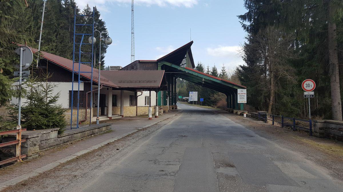 widok na granicę od czeskiej strony
