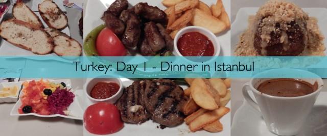 Turkey Day 1 - Dinner In Istanbul