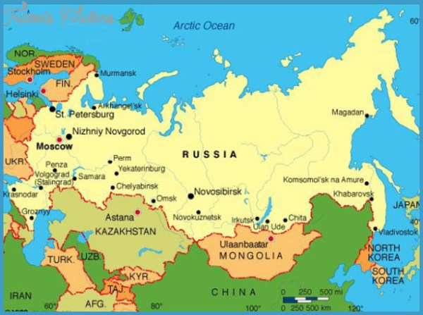 Map of Moscow TravelsFindersCom