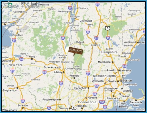 New York vermont map TravelsFindersCom