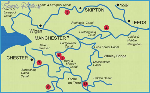 Canal Uk Map - TravelsFinders.Com