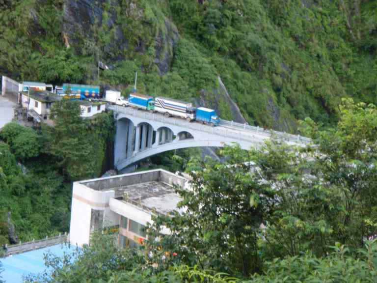 Friendship bridge - China/Nepal border