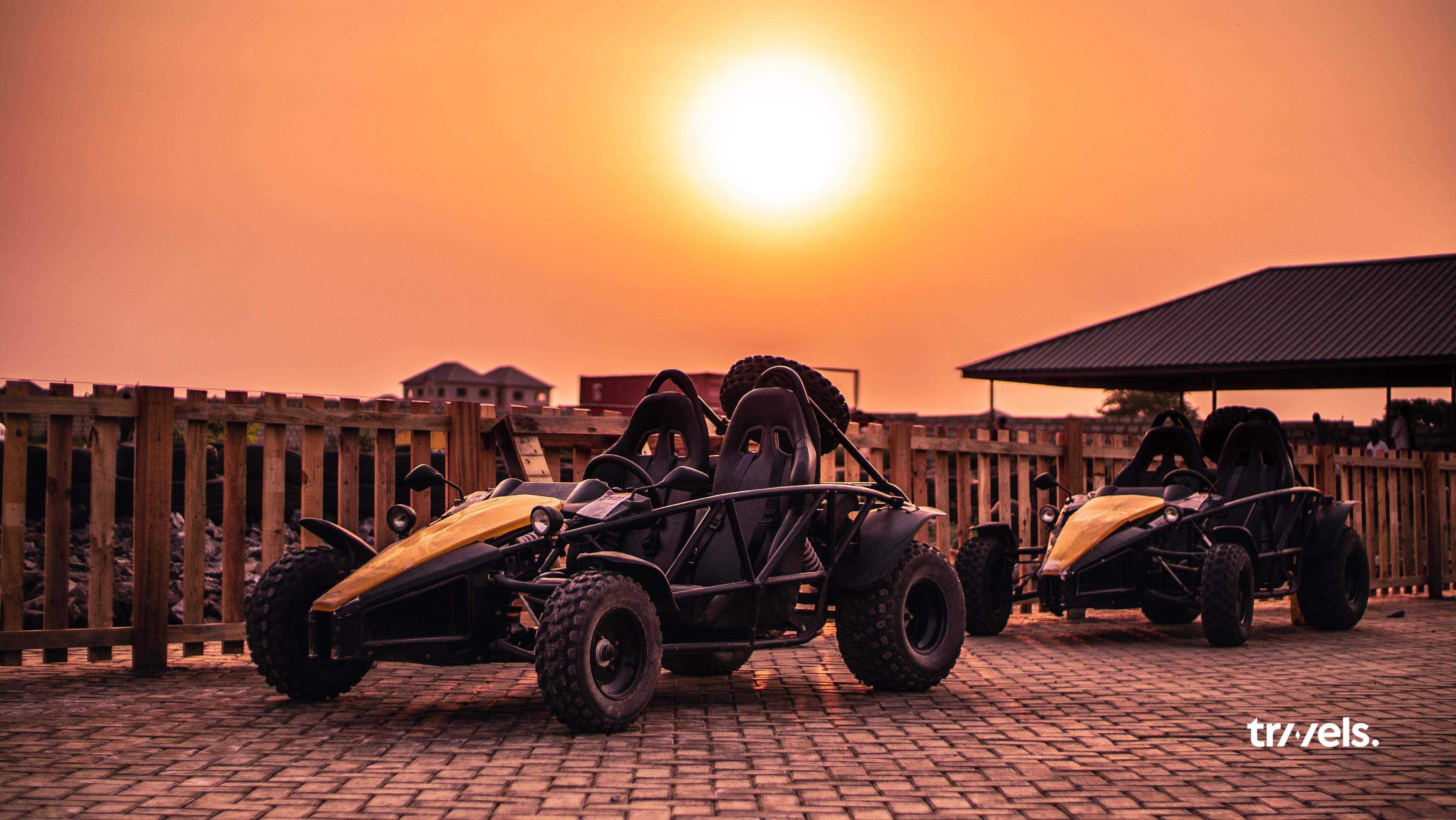 All-terrain vehicles at Deon Recreational Centre via Travels Ghana