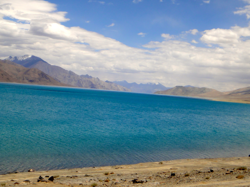 Colours of Pangong Tso.