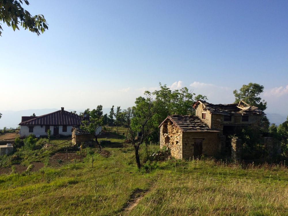 Old construction Jhaltola Forest