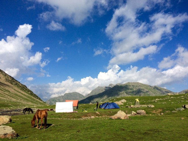 Our cozy tents with the picturesque surroundings!