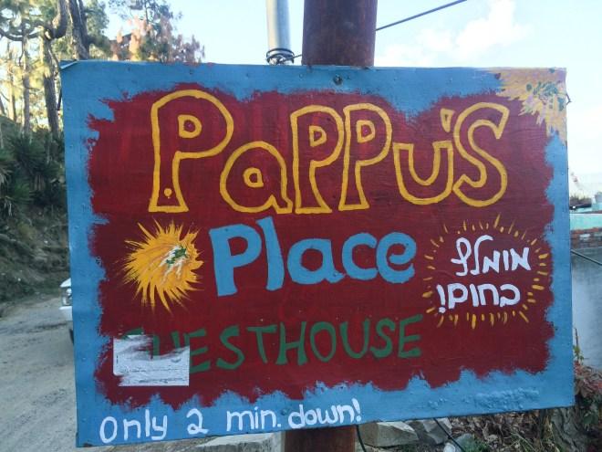 Signboard in Kasar Devi