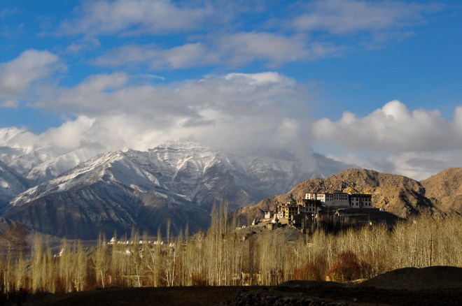 Phiyang Gompa perched beautfully on a hillock