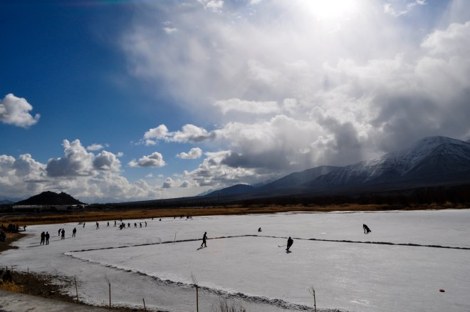 Cricket has its rival in snow hockey in Ladakh