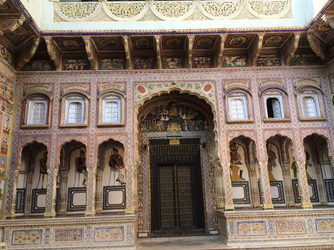 A view of the courtyard of a Haveli