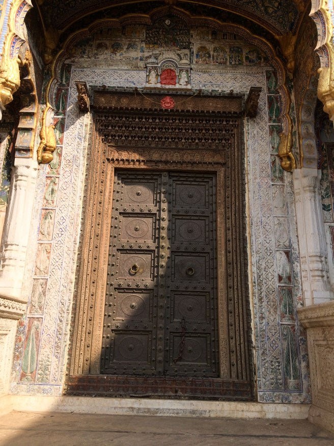 Close-up of a beautiful door, an essential feature of the Havelis of Shekhawati