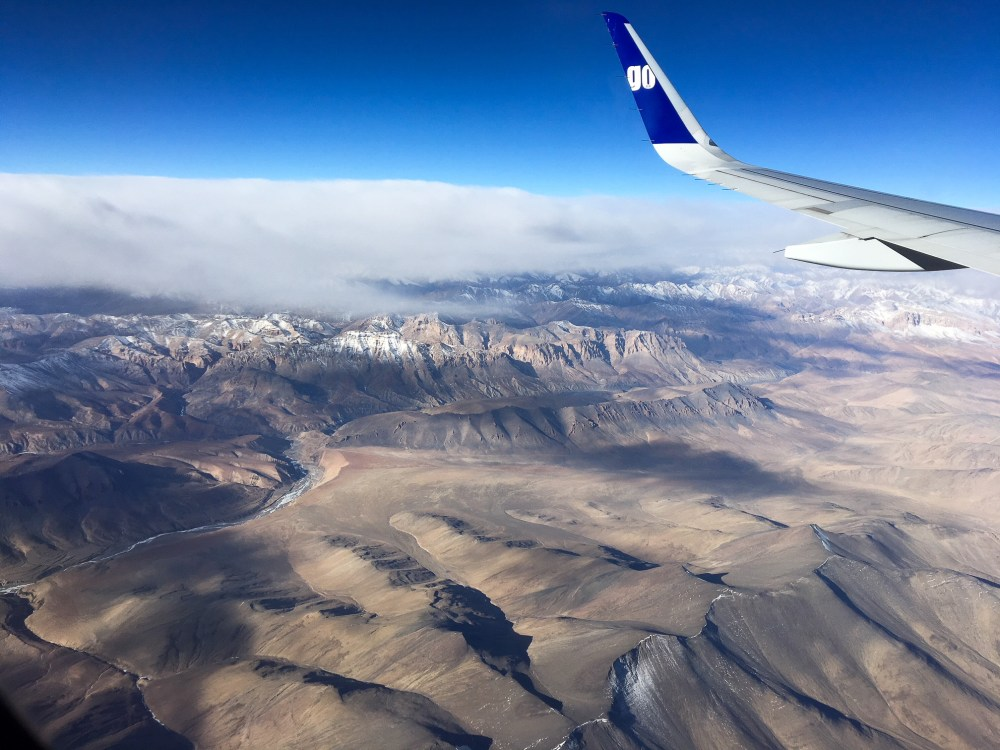 Ladakh winter flight