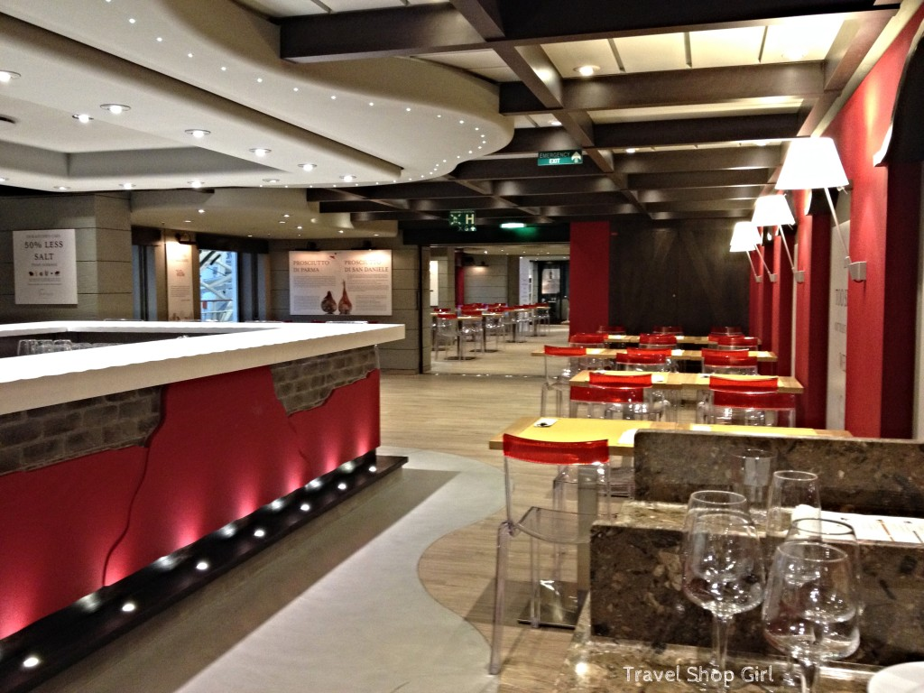 little girl chairs kitchen high table and msc divina | dining in eataly onboard cruises travel shop