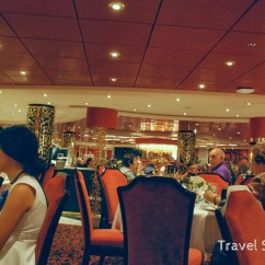 Black Dining Table And Chairs Acrylic Desk Chair Mats In The Msc Divina Main Room: Crab & Villa Rossa