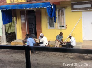 Caught some men playing chess on a back street