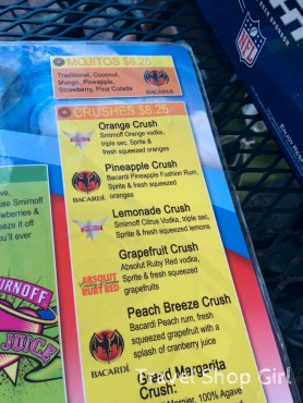 Big Kahuna Rum Shack menu