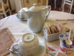 Tea and coffee served at our table