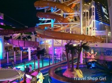 Kids Aqua Park at night