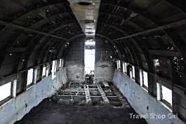 Looking up toward the cockpit inside The Dakota