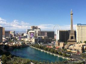 View from Terrace One Bedroom balcony room 2403 at The Cosmopolitan