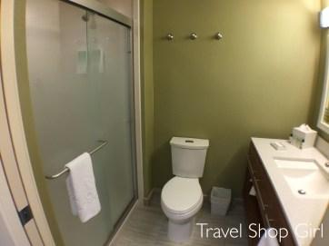 1 Queen Bed Studio bathroom at Home2Suites Denver West