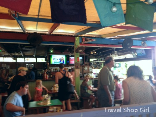 It's a bar and grill - people eat and drink and can and will get loud. That's the best part!