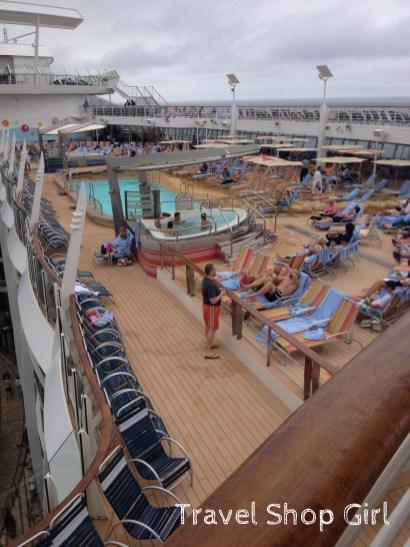 Beach pool on deck 15
