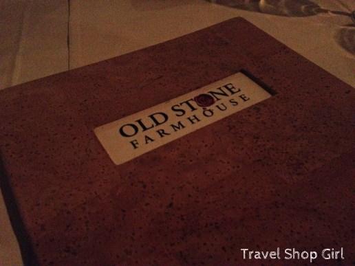 Old Stone Farmhouse menu