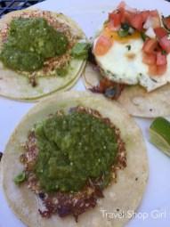 Vegan 1944 tacos and Queso Relleno taco at Pinche Taqueria