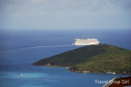 Norwegian Breakaway sailing out of St. Thomas