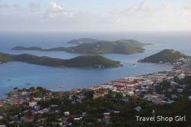 Downtown Charlotte Amalie is in the foreground