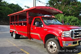 Our ride - Campbell Rey's red safari