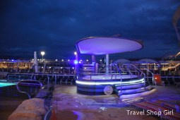Hot tub at night on deck 15