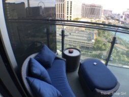 Balcony seating in Terrace One Bedroom at The Cosmopolitan