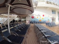 Deck chairs by Sports pool on deck 15