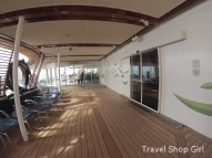 Deck area before you arrive inside the Solarium on deck 15