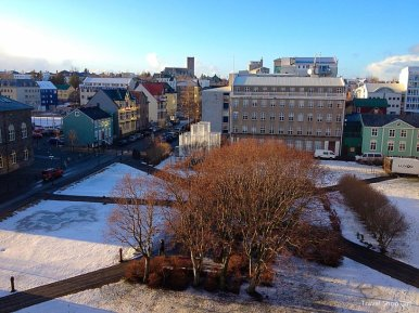 View from Hotel Borg February 2012