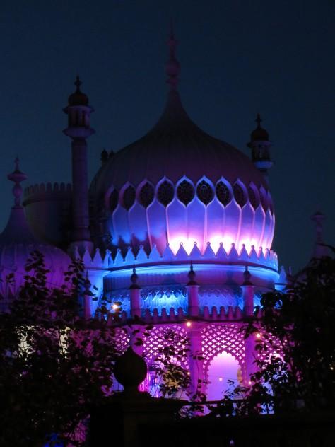 The Royal Pavilion at night
