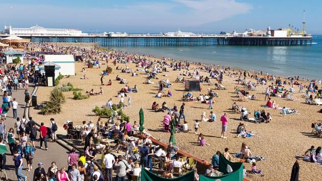 Brighton Beach and Pier UK