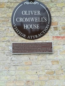The outside of Oliver Cromwell's house in Ely